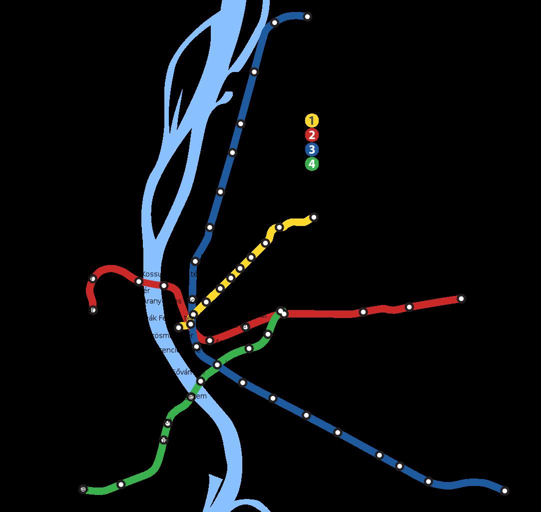Budapest Metro Lines