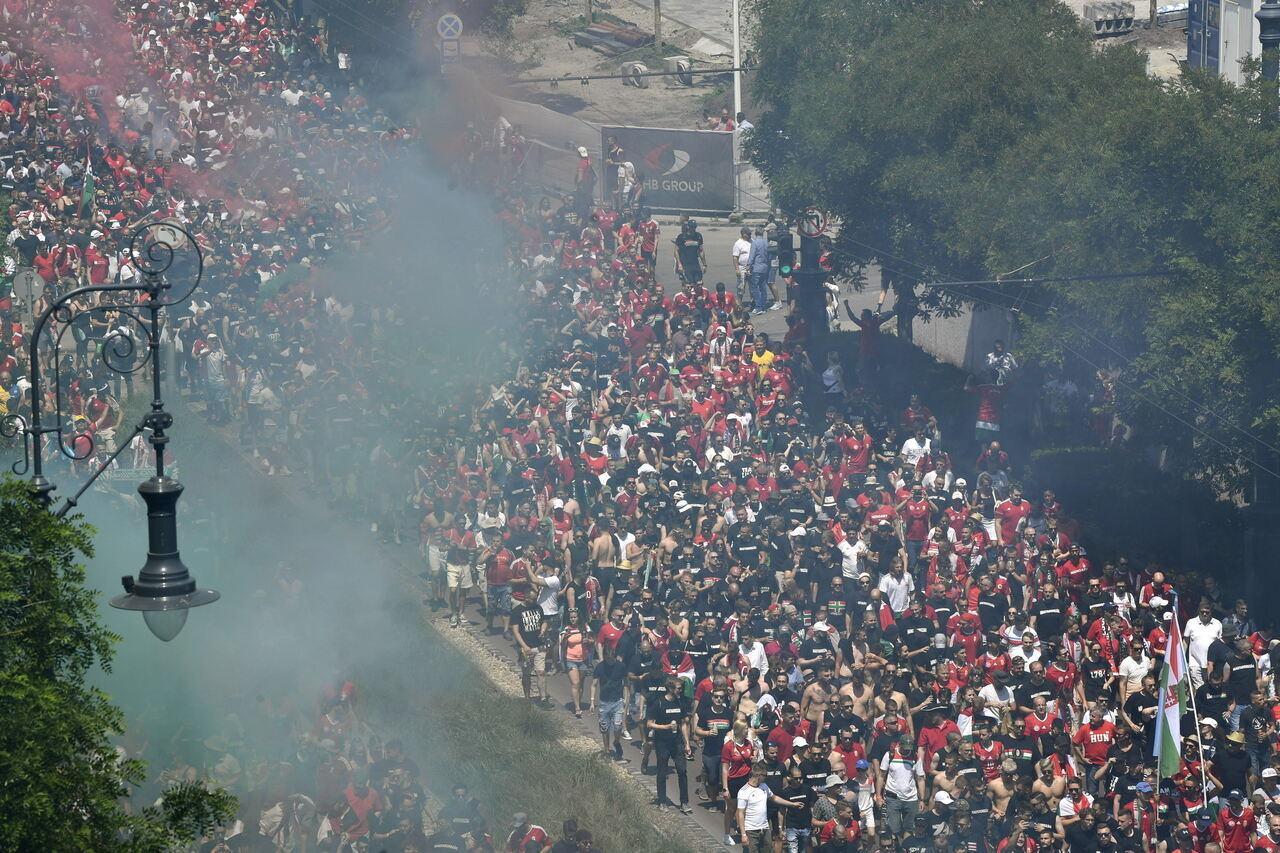Hungarian Fans Vs France 1