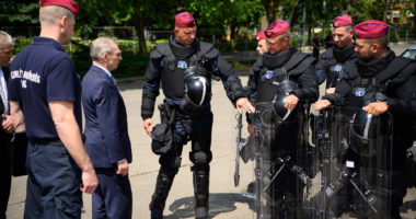 Hungary police Macedonia Serbia