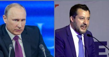 Matteo Salvini Vladimir Putin Vlagyimir Putyin Politikus Politicians Politics Cut