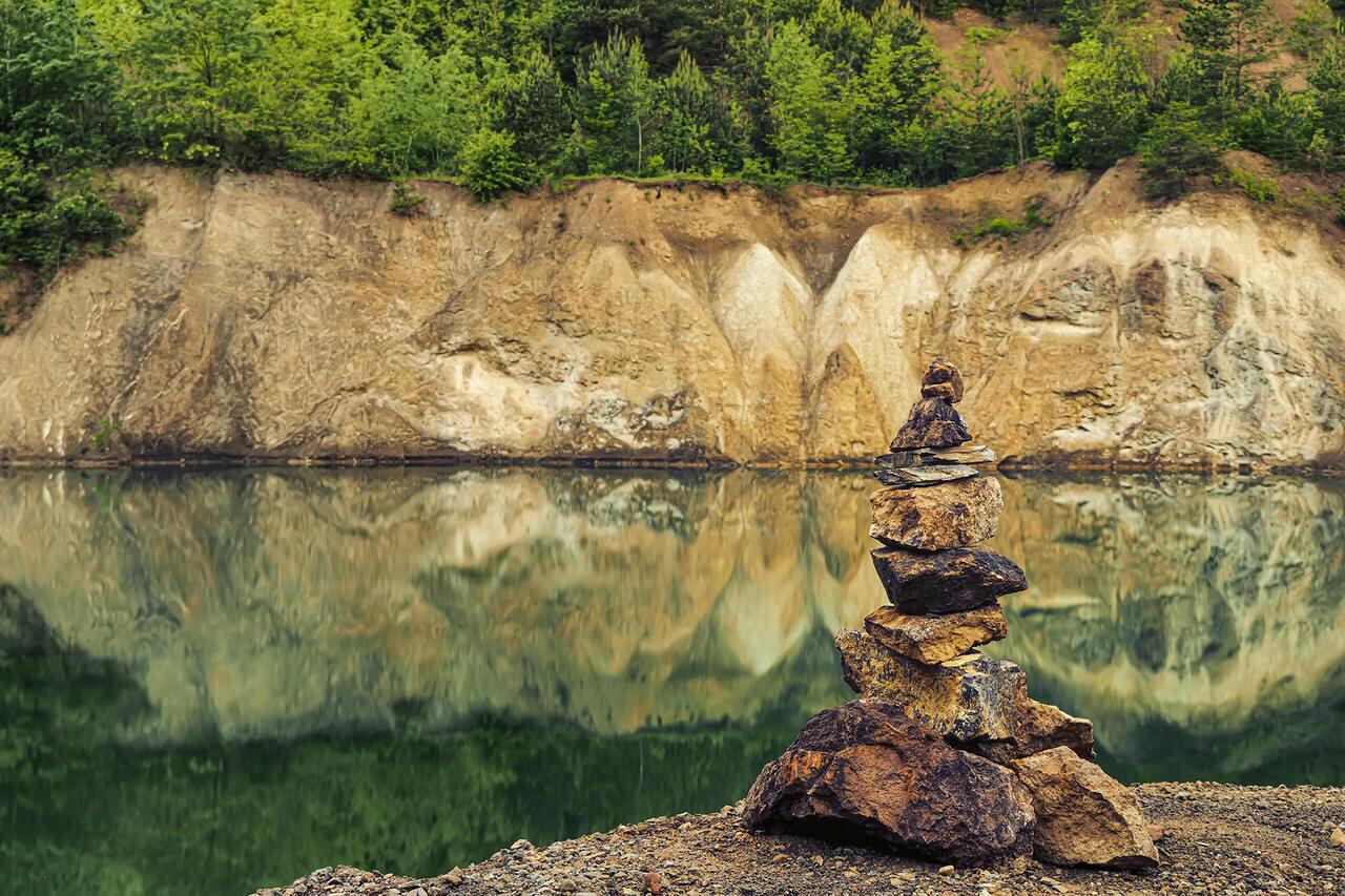 Quarry Lake Rudabánya Water Tó Bánya 2