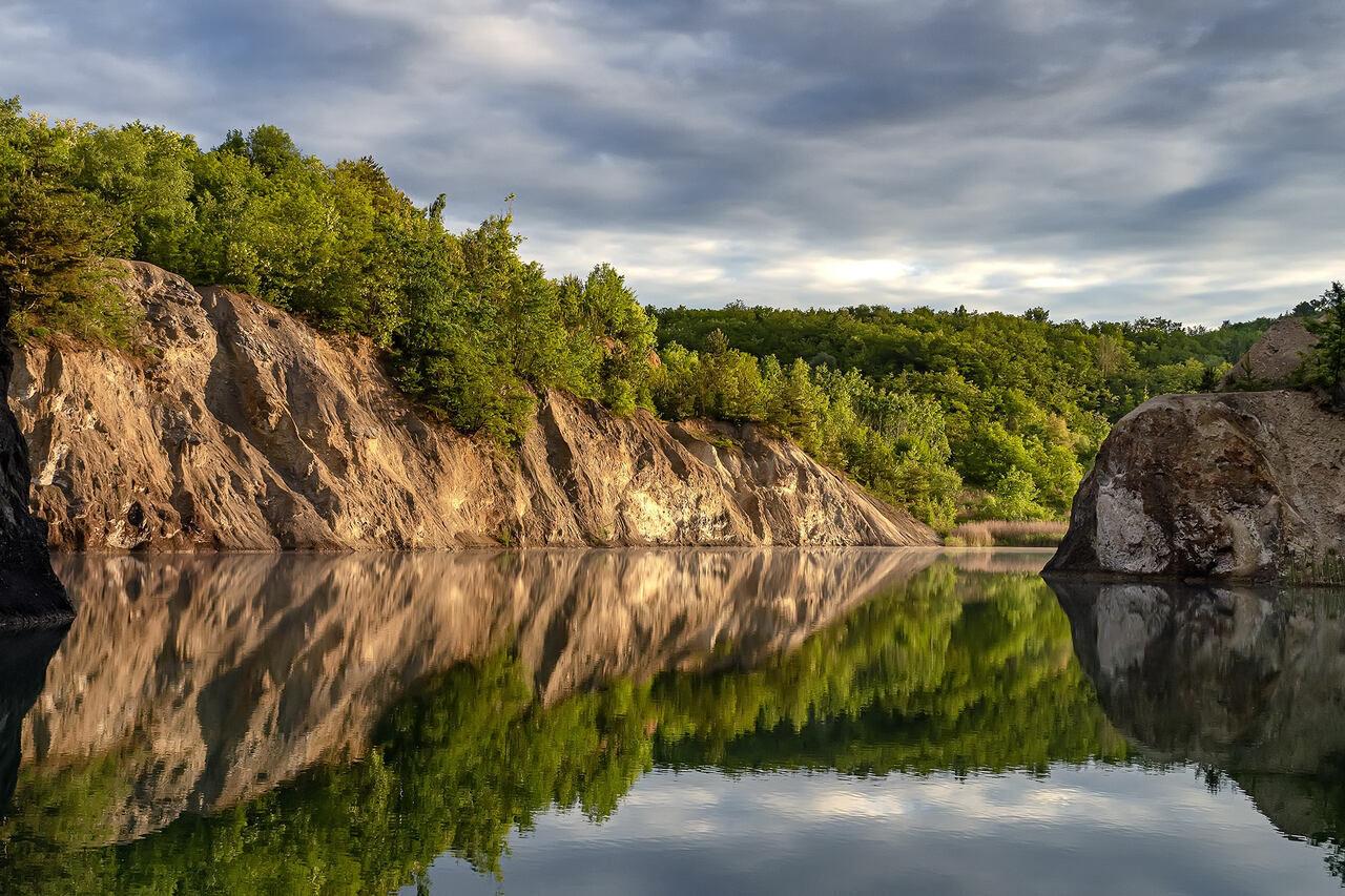 Quarry Lake Rudabánya Water Tó Bánya