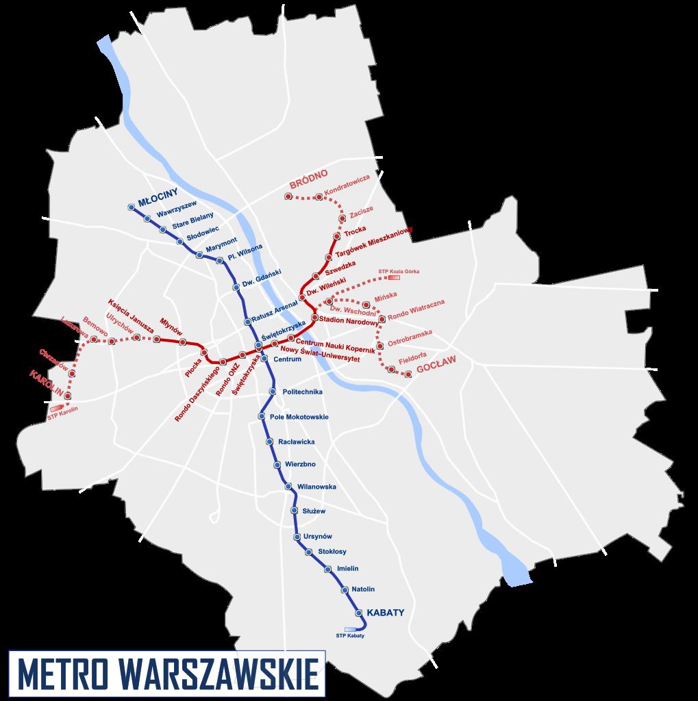 Warsaw Metro Lines