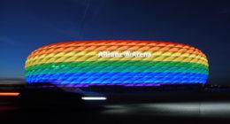 allianz arena rainbow