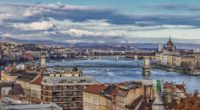 Budapest view winter autumn