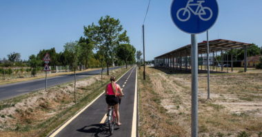 Hungary bike road