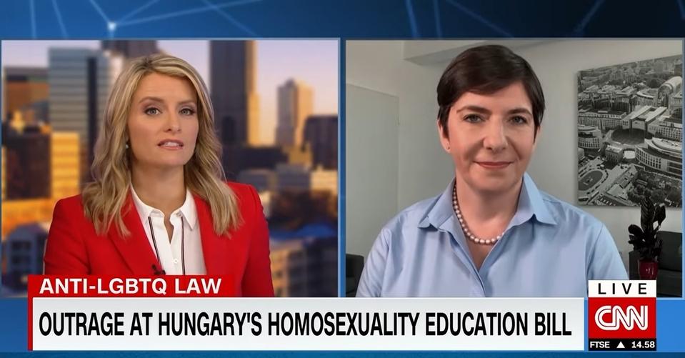 Klára Dobrev on CNN