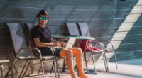 man travel holiday work