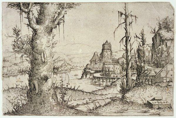 Augustin Hirschvogel Renaissance Drawing 1