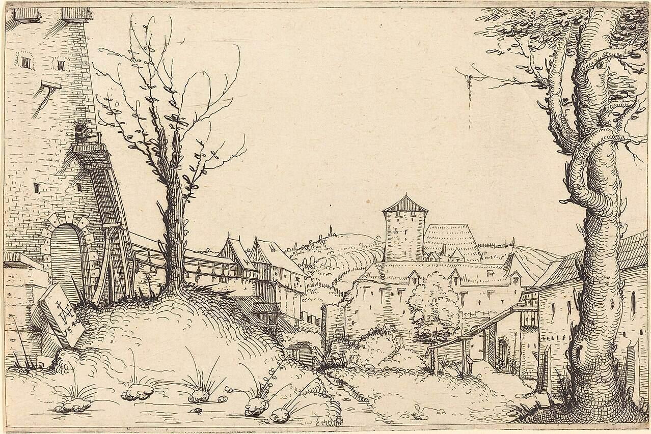 Augustin Hirschvogel Renaissance Drawing 2