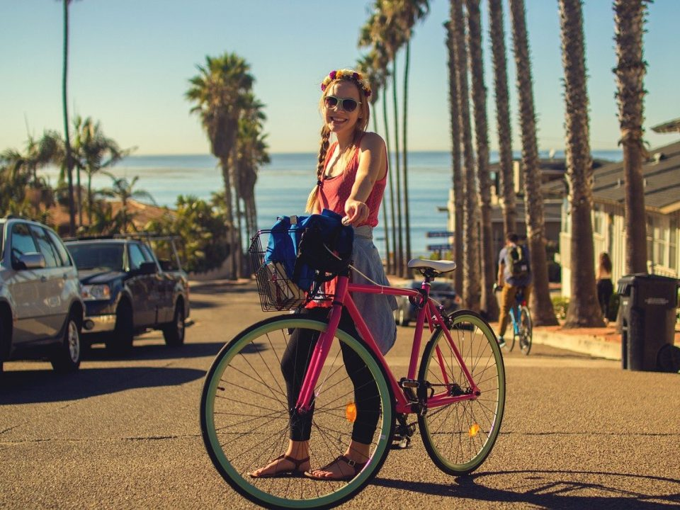 Bicycle City Girl Woman
