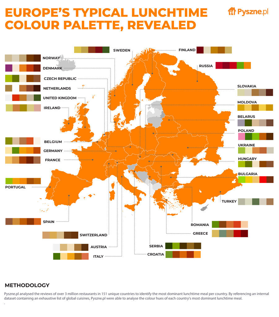 Food Colour Palettes Around the World
