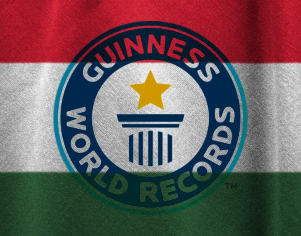 Guinness World Records Hungarian Flag Collage