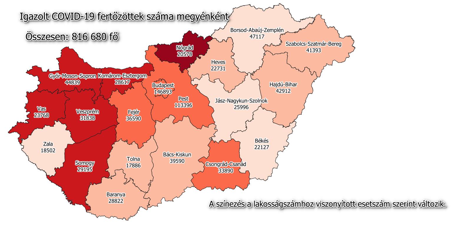 Hungary coronavirus map