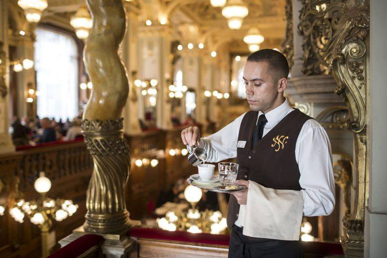 Hungary waiter New York Café