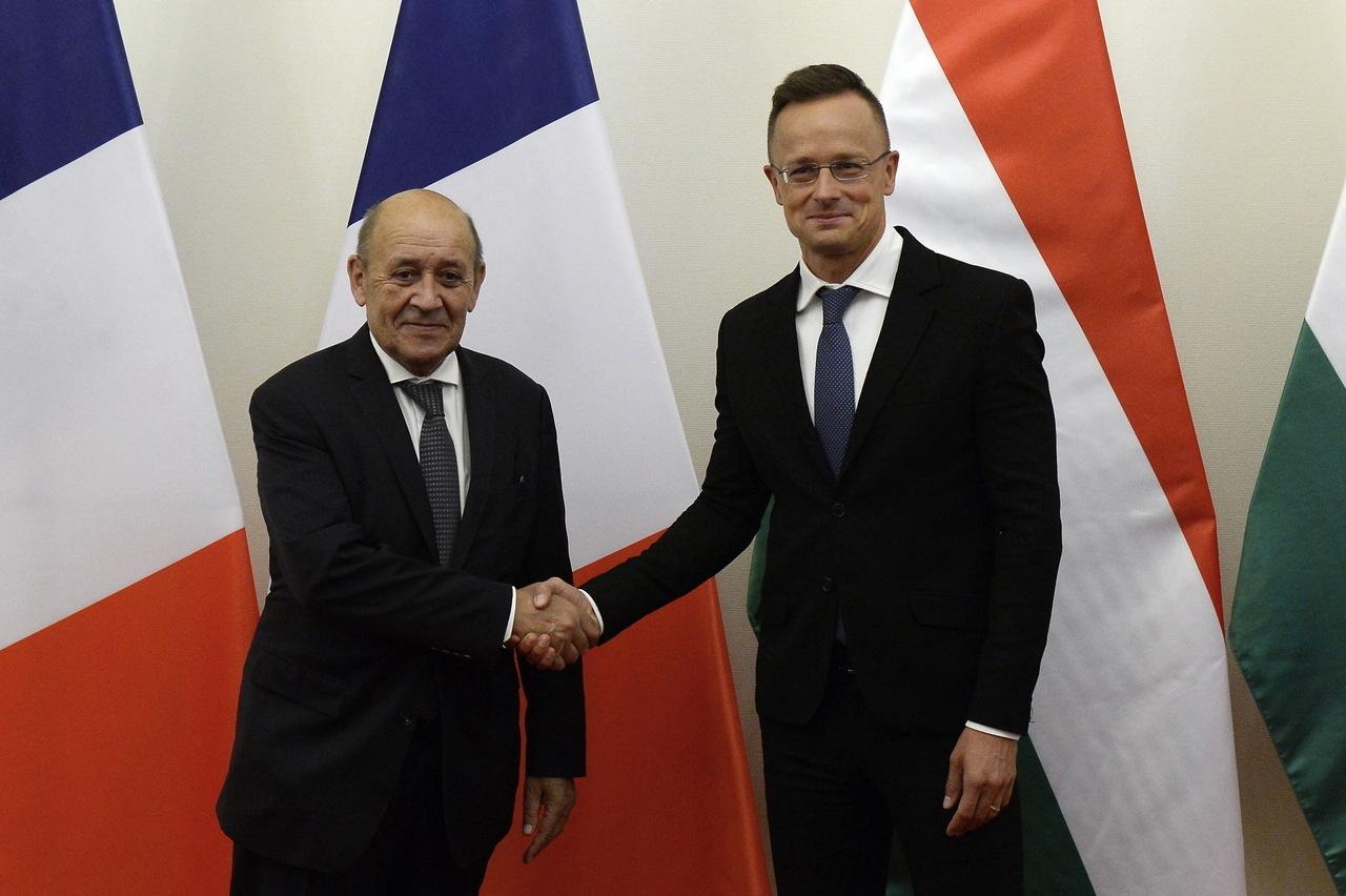 Szijjártó and French Foreign Minister