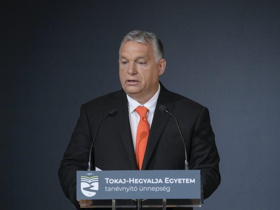 Viktor Orbán Tokaj-Hegyalja University Opening