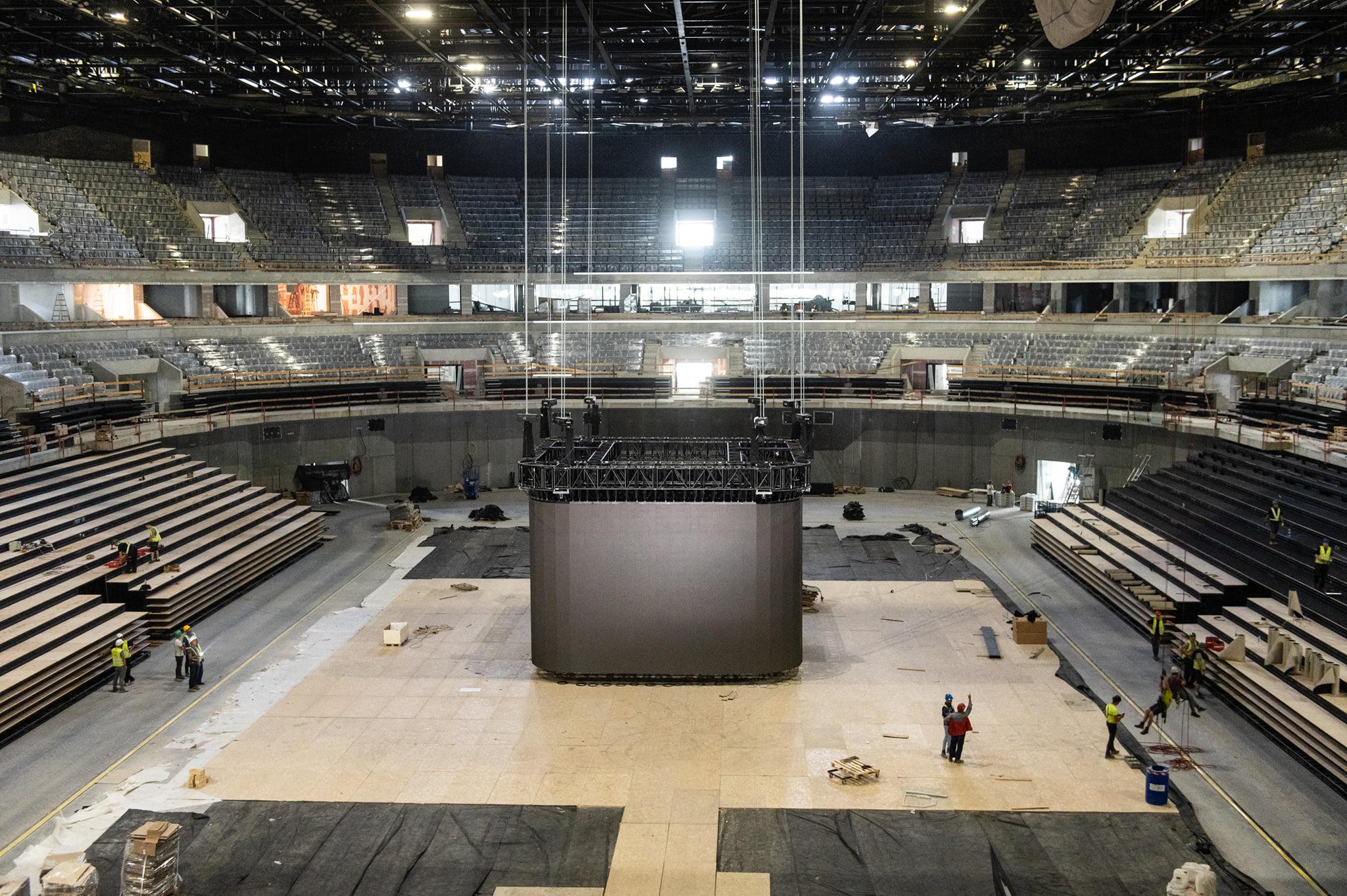 handball stadium budapest Interior building 1